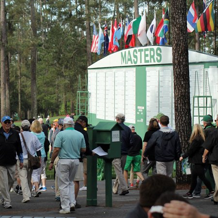Enjoy the golf at the Masters in Augusta.