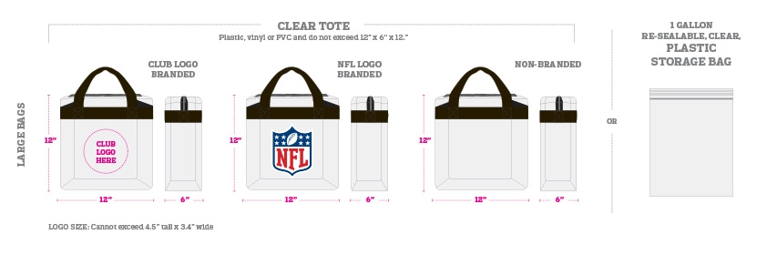 NFL bag restrictions