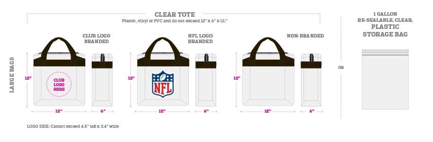 NFL bag restrictions