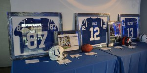 Silent auction with amazing autographed NFL memorabilia.