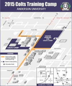 Anderson University Colts Training Camp Map