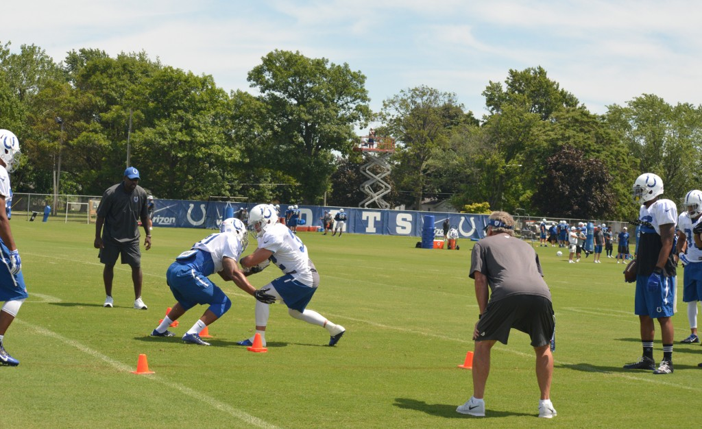 Colts Drill at Training Camp