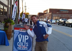 Outside the Colts VIP pre game tailgate party