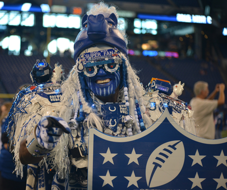 Colts Super Fan at Lucas Oil Stadium